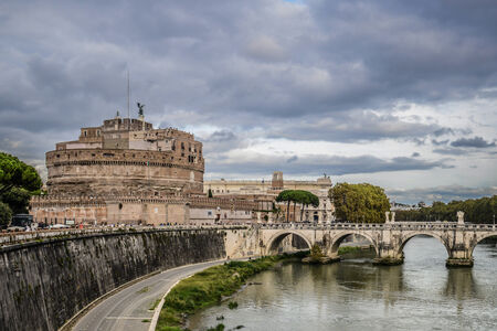 angelo: Castle St. Angelo in Rome Italy Editorial