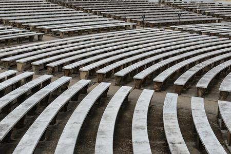 amphitheater: Seats in an amphitheater Stock Photo
