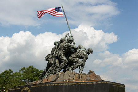 WASHINGTON DC - AUGUST 20:  Iwo Jima statue in Washington DC on August 20, 2012.  The statue honors the Marines who have died defending the US since 1775. Editorial