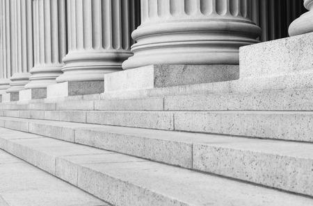 Pillars in Black and White photo