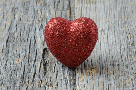 Heart on Vintage Wood Background for Valentines Day