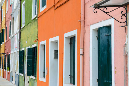 Colorful Homes in Burano Italy outside of Venice