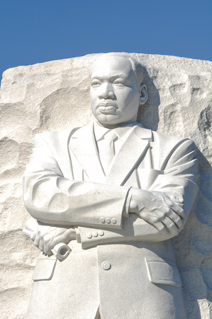 assassinated: Martin Luther King Memorial in Washington DC