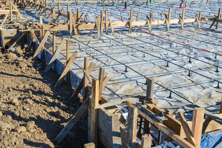 new site: New Home Foundation Construction Site