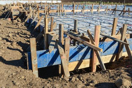 rural development: New Home Foundation Construction Site
