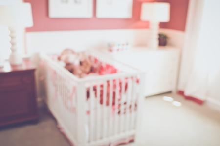 bebe cuna: Desenfoque cuna con retro Filtrar Estilo Foto de archivo