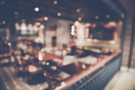 Blurred Restaurant Interior Archivio Fotografico