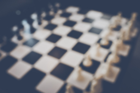 tourney: Blurred Chess Table Stock Photo