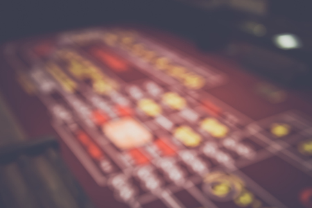 Blurred Craps Table with Stock Photo