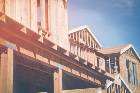 joists: Home Under Construction with Sunlight