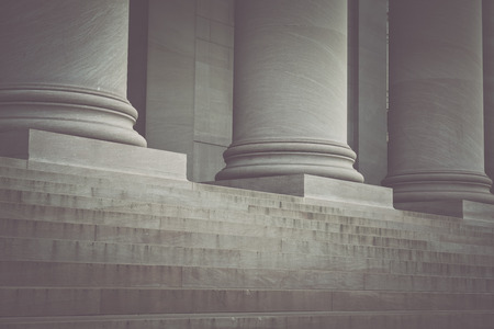 pillar: Pillars and Stairs to a Courthouse with Vintage Syle Filter