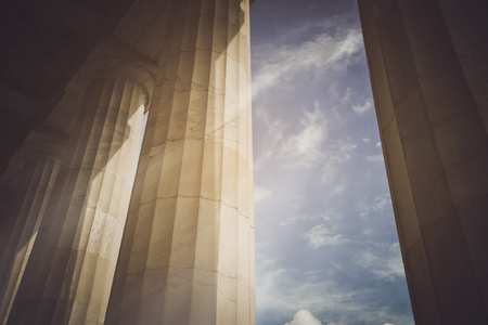 style: Pillars with Vintage Stock Photo