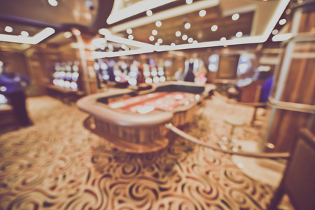 Blurred Craps Table