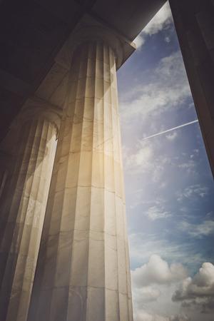Pillars with Vintage Standard-Bild