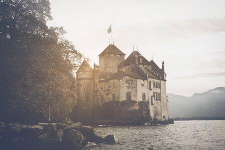 geneva: Lake Geneva Switzerland in winter