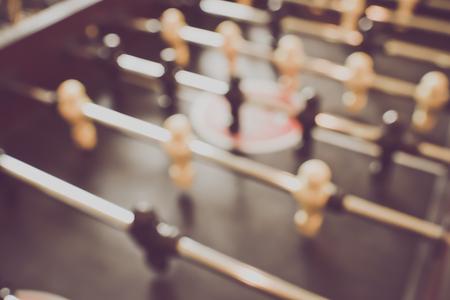 foosball: Blurred Foosball Table with vintage Stock Photo