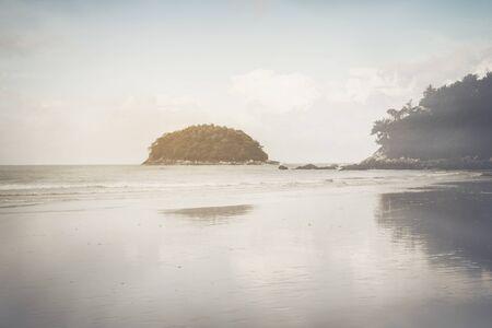 Beach in Thailand with Retro Stock Photo