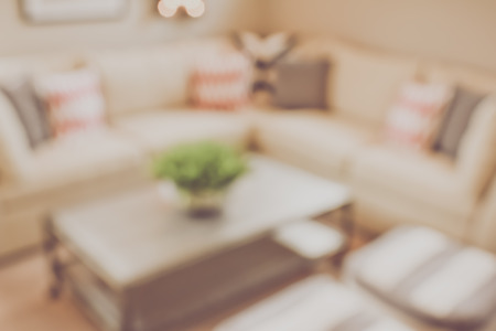 couches: Blurred Living Room with Couches and Retro
