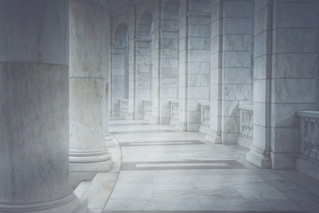 academia: Pillars with Vintage Style Filter