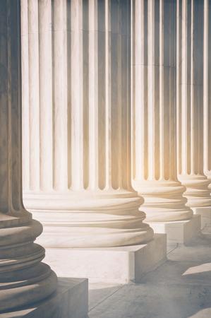 Pillars with Retro Stock Photo