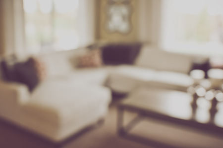 couches: Blurred Living Room with Couches and Retro Filter