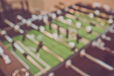 foosball: Blurred Foosball Table with Retro Filter