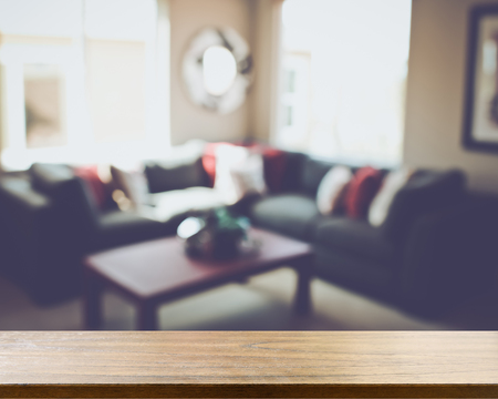 couches: Blurred Living Room with Couches applying Retro Style Filter