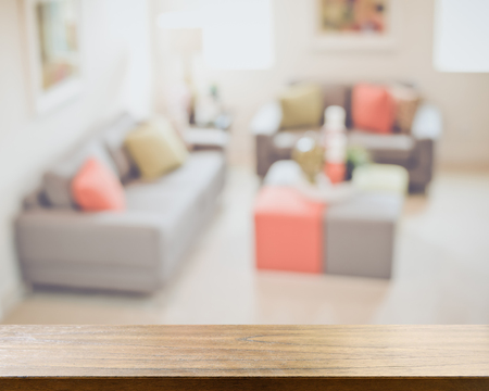 couches: Blurred Living Room with Couches and Reto Style Filter