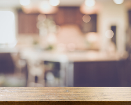 Blurred Modern Kitchen with Retro Style Filter