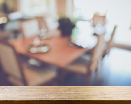 background settings: Blurred Dining Room Table with Retro Style Filter