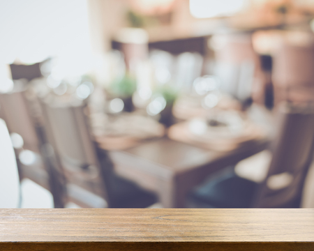 dining room: Blurred Dining Room Table with Retro Style Filter