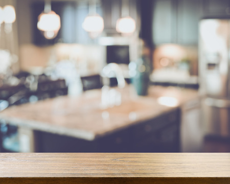 Blurred Kitchen with Retro Style Filter Imagens - 52265441