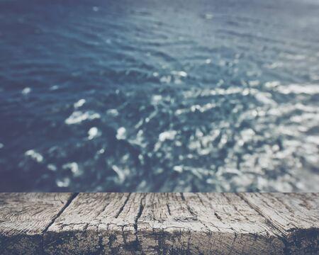 blurred ocean background