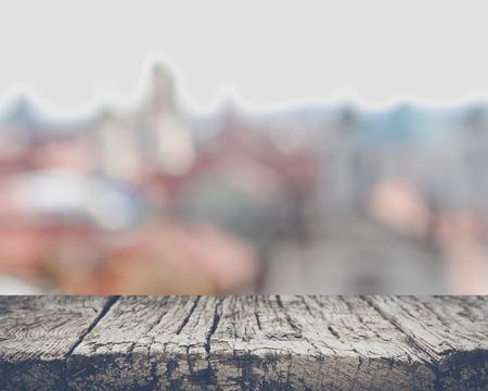 Blurred Rooftops in Prague, Czech Republic 版權商用圖片