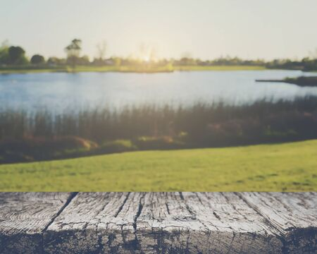 Blurred Lake with Vintage Filter
