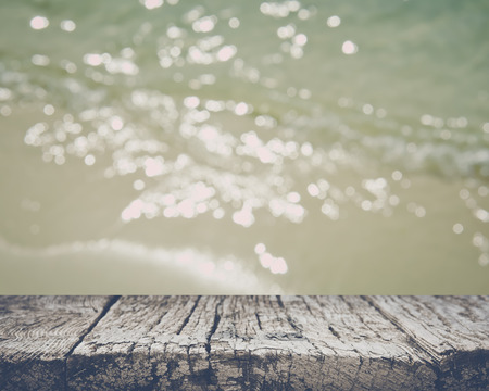 Blurred Water on the Sand