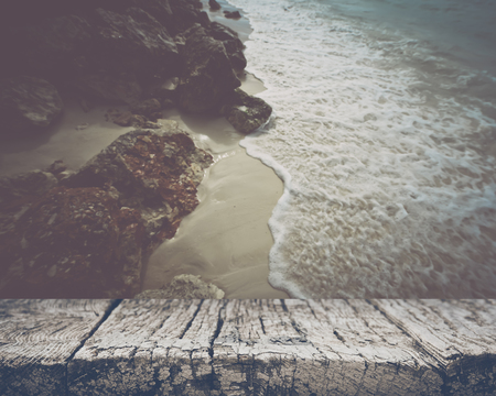 Blurred Ocean and Rocks