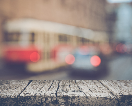 Blurred Train with Retro Style Filter