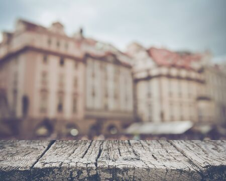 Prague in Czech Republic with Blurred Tourists