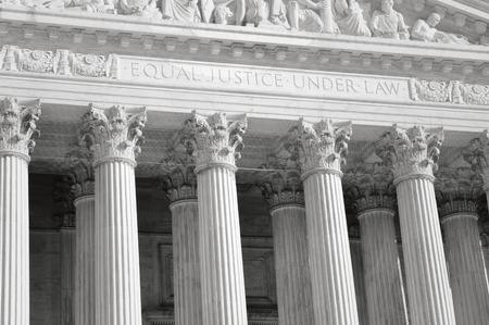 Sąd Najwyższy Stanów Zjednoczonych Filary Sprawiedliwości i Prawa z Retro