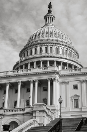 Capitol Hill Building in Washington DC with Vintage Filter