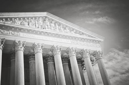 Supreme Court of the United States of America in retro