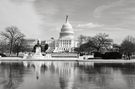 WASHINGTON, DC - JAN 23: Washington DC Capitol on JANUARY 23, 2011 in Washington DC,USA. The Capitol is a famous attraction in Washington DC, and people from all over the world come to visit. 新聞圖片