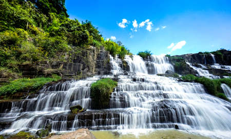indochina: Pongour waterfall in Don Duong Lam Dong Vietnam - the most beautiful waterfall in indochina