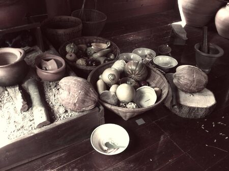 grunge: Vintage grunge thai food  Stock Photo