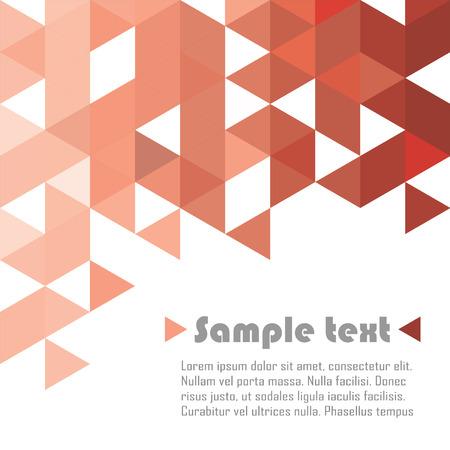 赤い三角形のベクトルの抽象的な背景
