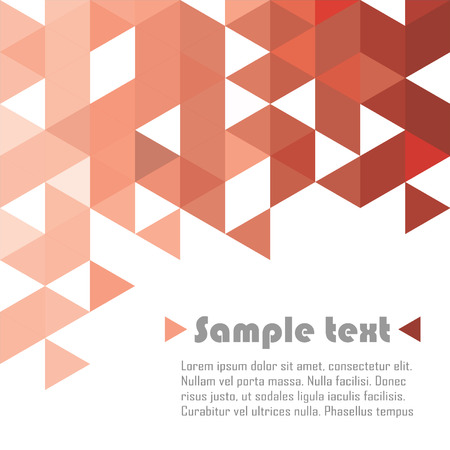 Red triangle vector abstract background Illustration