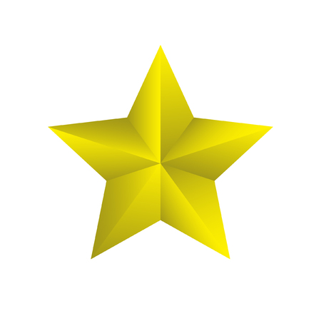 3d star: Yellow 3D star on background Illustration