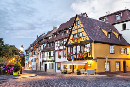 Traditional french houses in Petit Venice, Colmar, France
