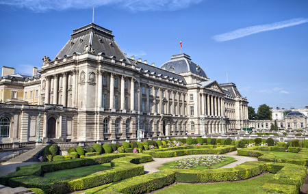 The Royal Palace in center of Brussels, Belgium Editorial